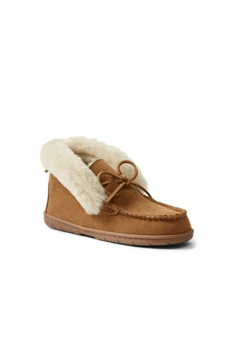 Women's Suede Moccasin Bootie Slippers