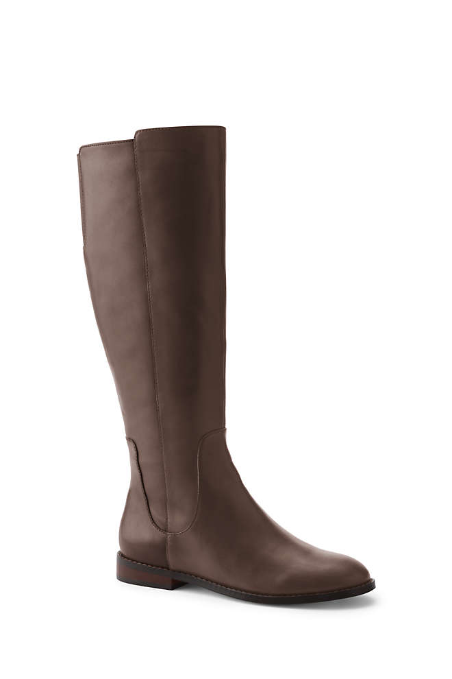 Women's Wide Riding Boots, Front