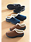 Women's Wide Sherpa Lined Everyday Suede Mules