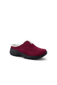Women's Wide All Weather Suede Leather Slip On Clog Shoes