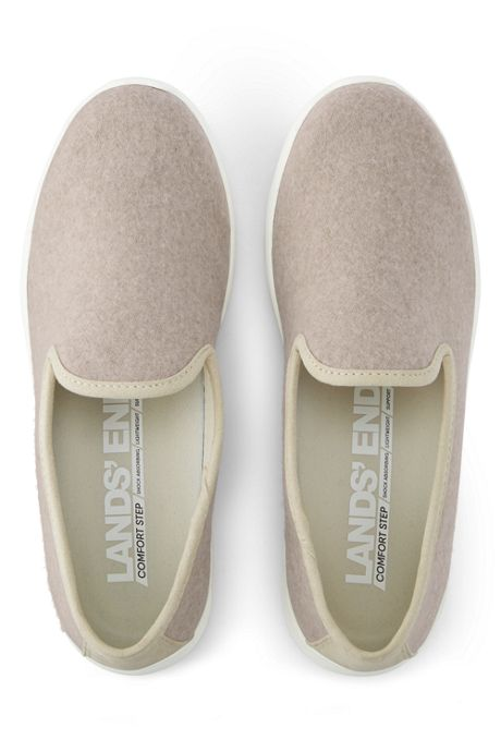 Women's Wide Lightweight Comfort Wool Slip-on Shoes