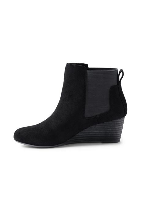 Women's Wide Wedge Chelsea Boots