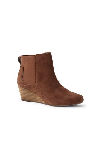 95eb49108ba Women's Wedge Chelsea Boots | Lands' End