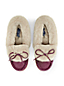Women's Suede Moccasin Slippers with Shearling Collar