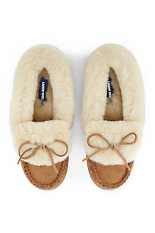 Women's Shearling Moccasin Slippers