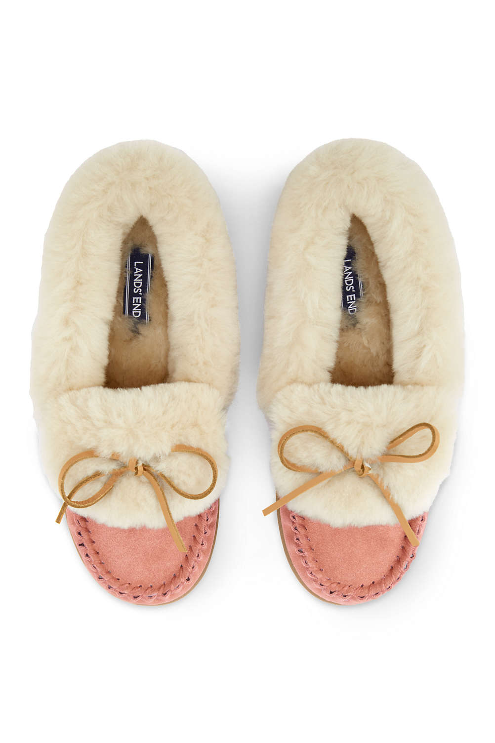 d074b3a52f30 Women s Suede Shearling Moccasin Slippers from Lands  End