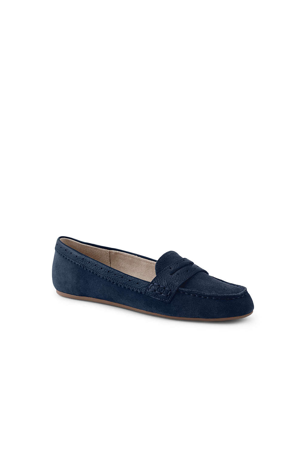 fa915e5f1f5 Women s Suede Everyday Comfort Penny Loafers from Lands  End
