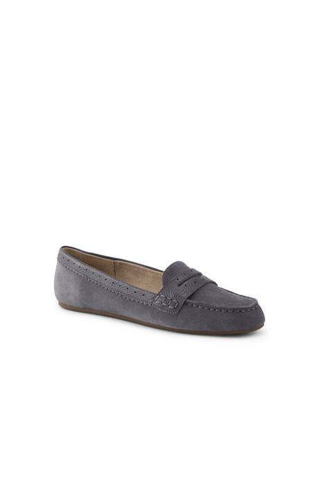 Women's Wide Suede Everyday Comfort Penny Loafers