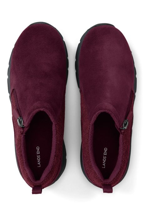 School Uniform Women's Wide All Weather Insulated Zip Suede Shoes