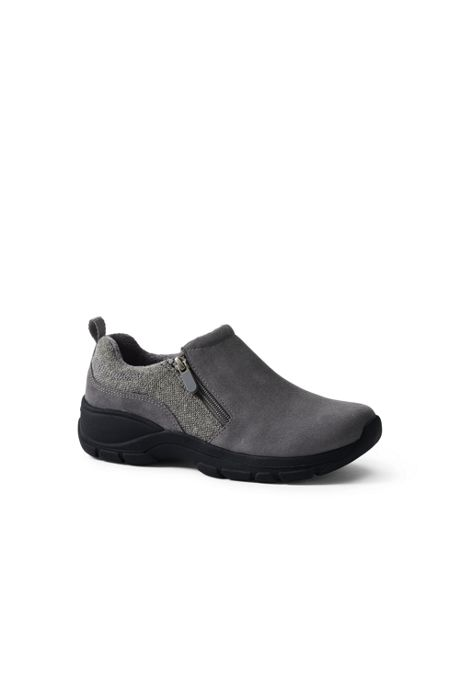 Women's Wide All Weather Insulated Zip Suede Shoes