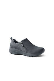 Women's Insulated Winter All Weather Suede Leather Zip Moc Shoes