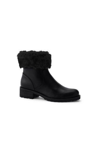1724f910863 Women's Fur Trim Ankle Boots | Lands' End