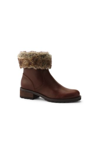 Women's Fur Trim Ankle Boots