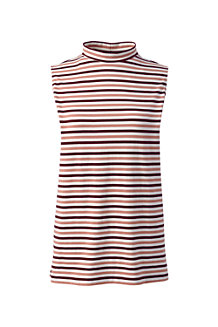 Women's High Neck Striped Sleeveless Top