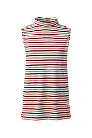 Women's Plus Size Sleeveless Stripe Mock Neck Top