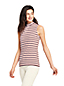 Women's Plus High Neck Striped Sleeveless Top