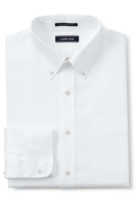 Men's Traditional Fit No Iron Pinpoint Shirt with Stretch