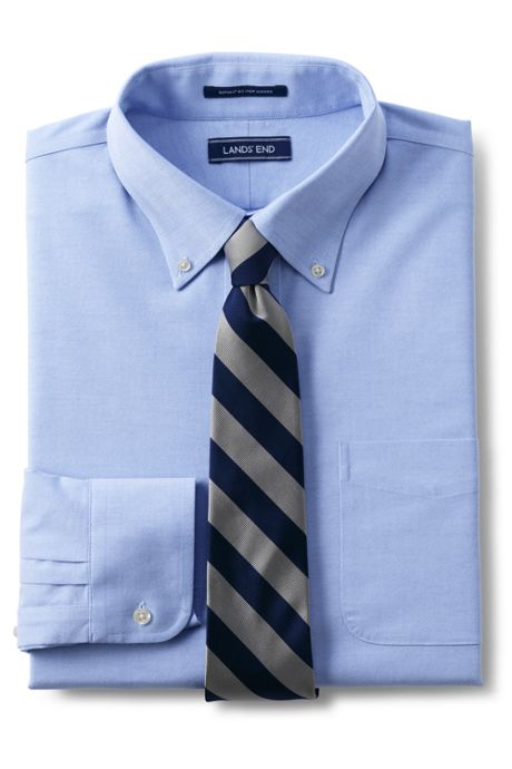 Men's Traditional Fit No Iron Oxford Shirt with Stretch