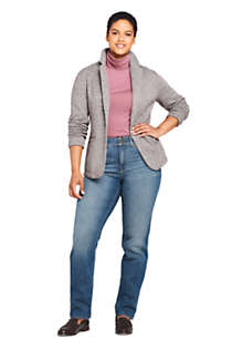 Women's Plus Size Textured Sweater Fleece Blazer, alternative image
