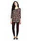 Women's Knot Front Floral Tunic