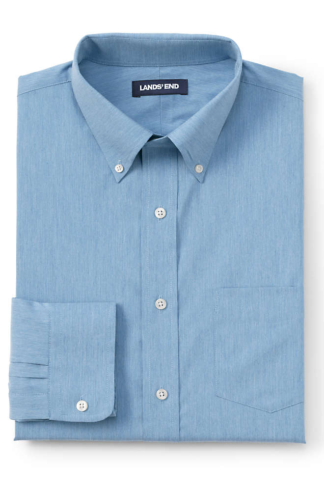 Men's Tall Traditional Fit Comfort First Shirt with CoolMax, Front
