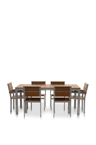 Genial All Weather Recycled Rectangle Dining Set 6 Chairs