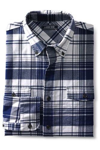 La Chemise en Flanelle Coupe Classique, Homme Stature Standard