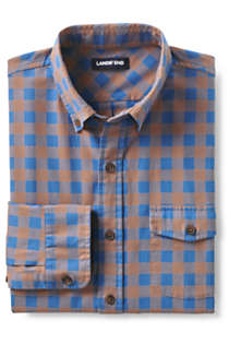 Men's Big and Tall Traditional Fit Comfort-First Lightweight Flannel Shirt, Unknown