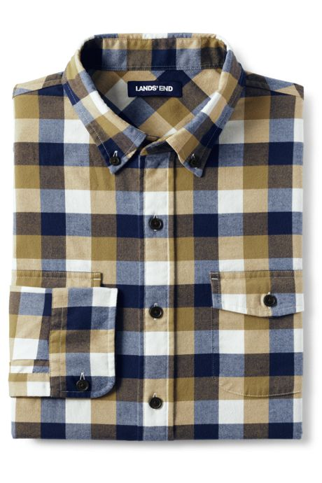 Men's Tall Traditional Fit Comfort First All Season Flannel Shirt