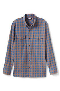 Men's Big and Tall Traditional Fit Comfort-First Lightweight Flannel Shirt, Front