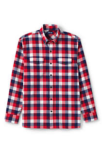 Men's Traditional Fit Comfort- First Lightweight Flannel Shirt, Front