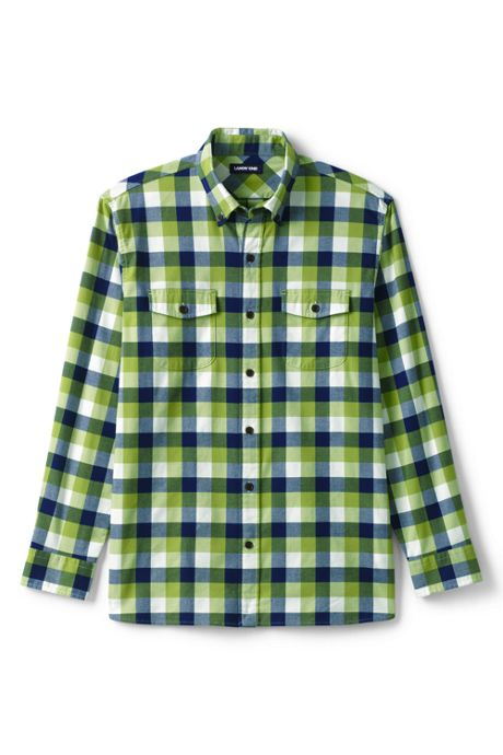 Men's Tall Tailored Fit Comfort First All Season Flannel Shirt