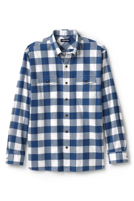 Men's Big and Tall Traditional Fit Comfort-First Lightweight Flannel Shirt
