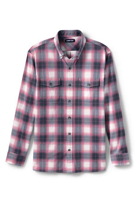 Men's Tall Traditional Fit  Comfort- First Lightweight Flannel Shirt