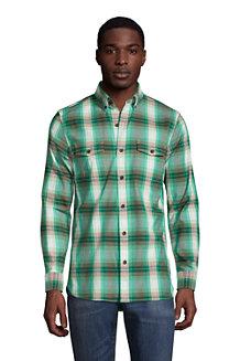 Leichtes Komfort-Flanellhemd für Herren, Classic Fit