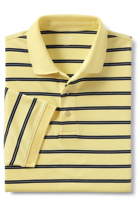 Men's Tall Short Sleeve Stripe Supima Polo Shirt