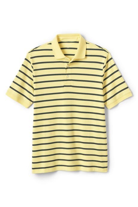 Men's Tall Short Sleeve Striped Supima Polo