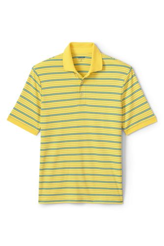 Polo Rayé Supima Manches Courtes, Homme Stature Standard