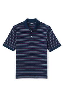 Gestreiftes Supima Kurzarm-Poloshirt für Herren, Classic Fit