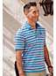Men's Striped Supima Polo Shirt, Traditional Fit