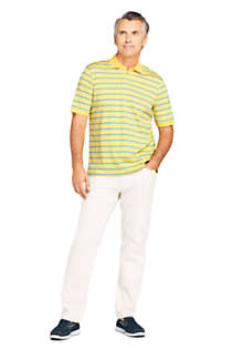 Men's Short Sleeve Stripe Super Soft Supima Polo Shirt, Unknown