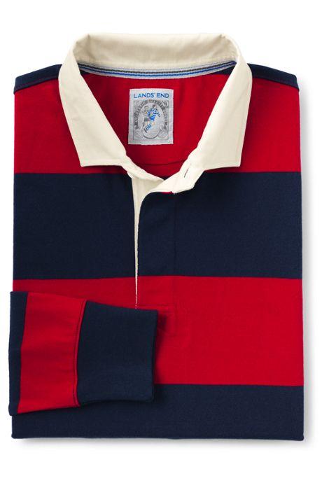 Men's Long Sleeve Stripe Rugby Shirt
