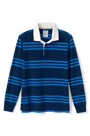 Men's Big and Tall Long Sleeve Stripe Rugby Shirt