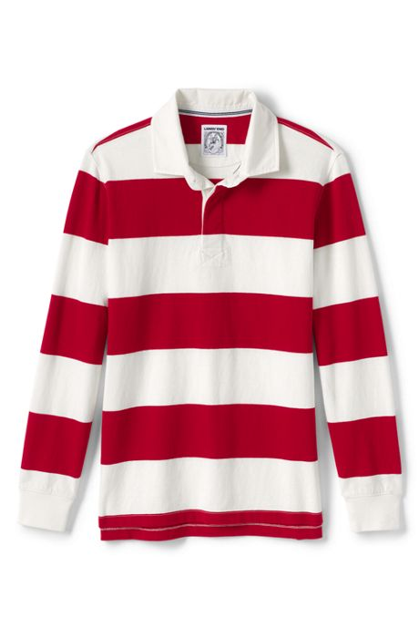 Men's Tall Long Sleeve Stripe Rugby Shirt