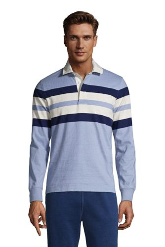 Polo Rugby en Jersey Manches Longues, Homme Stature Standard