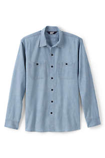 Stars Pale Blue Denim Look Cotton Fabric Chambray