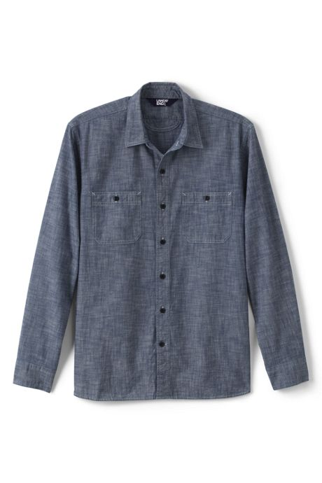 Men's Tailored Fit Chambray Work Shirt