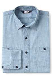 Men's Tall Tailored Fit Chambray Work Shirt