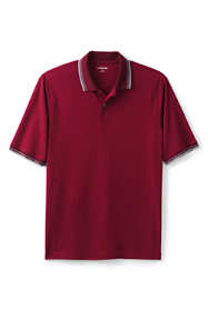 Men's Tall Short Sleeve Stretch Pique Supima Oxford Polo