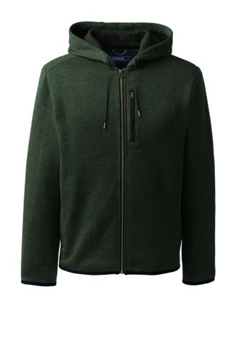 Men's Sweater Fleece Zip-front Hoodie